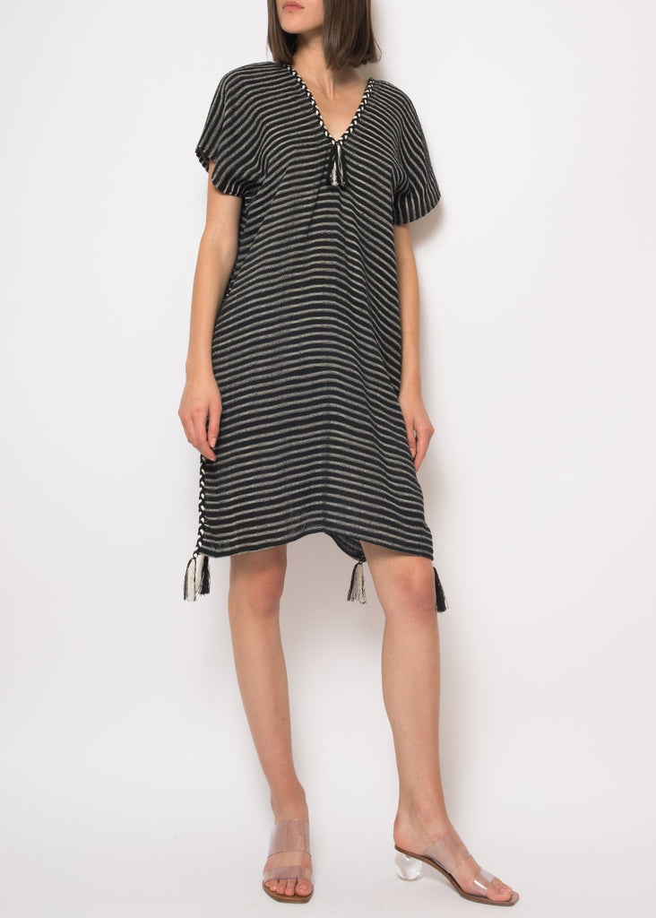 Ramona Dress in Black/Gray