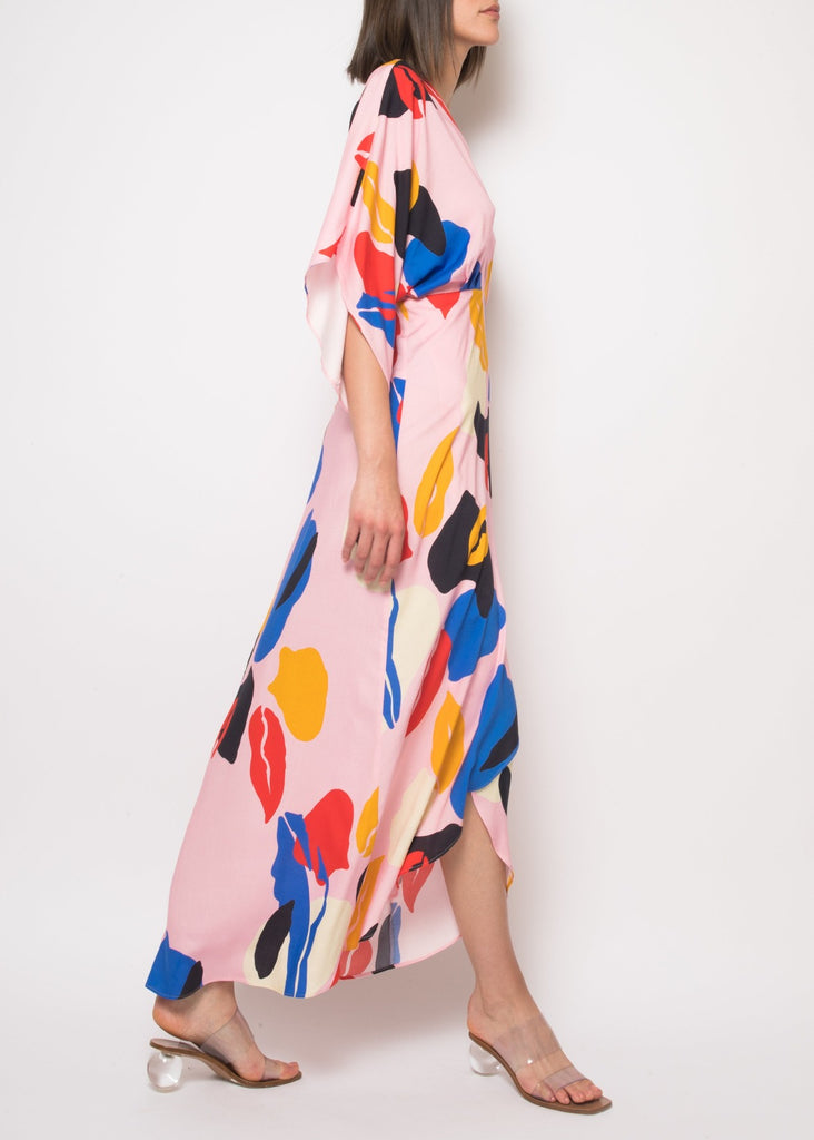 Katherine Spring Abstract Maxi Dress