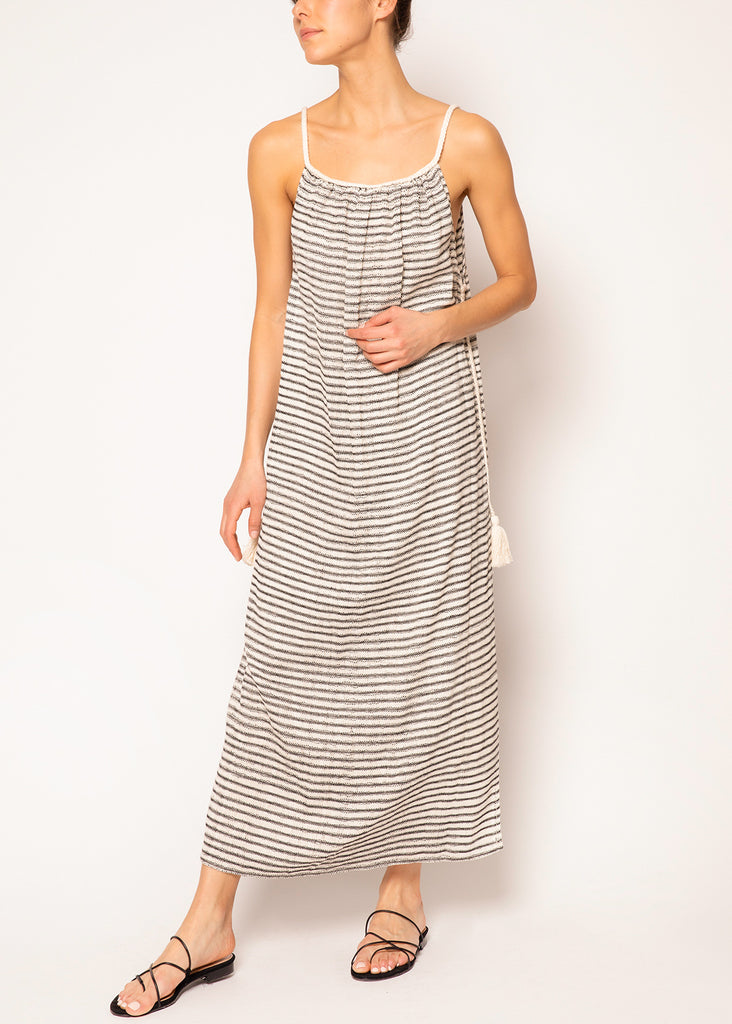 Delia Striped Long Dress