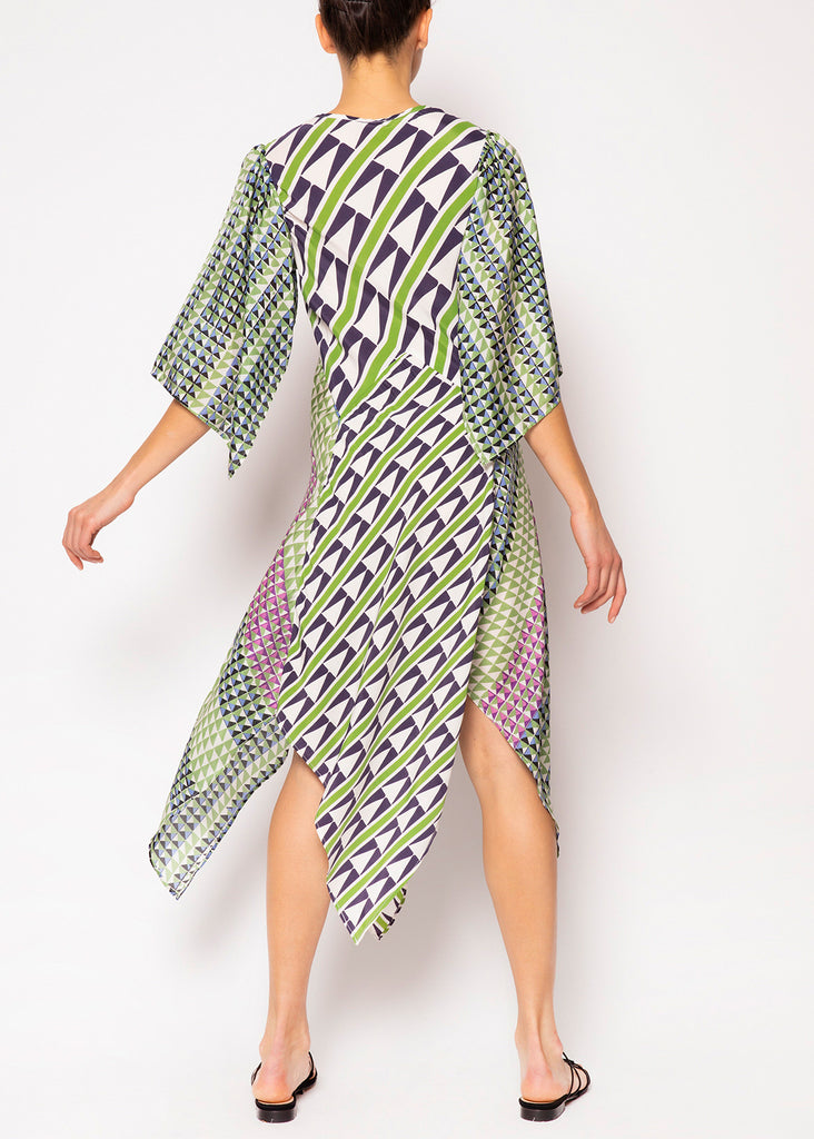 Athena Geometric Scarf Dress