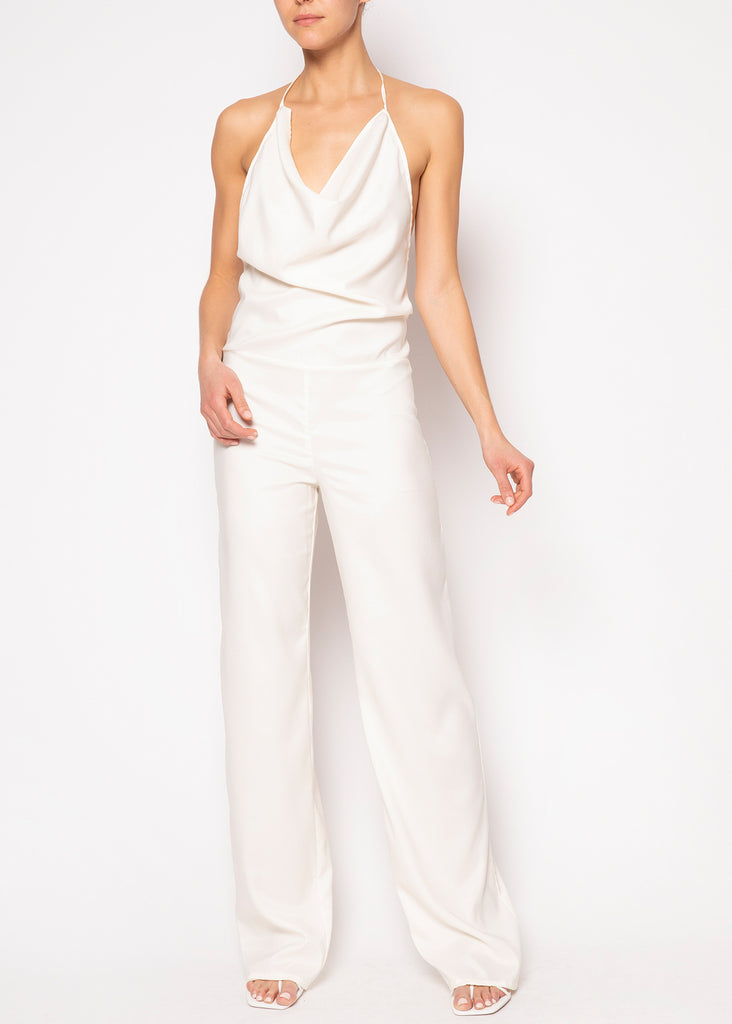 Faye Jumpsuit in White