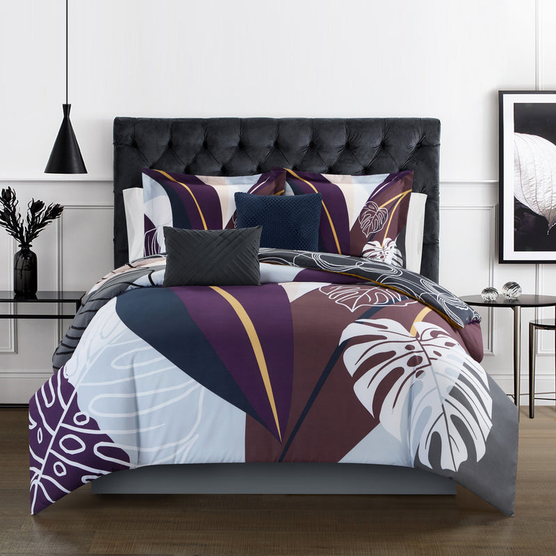 Chic Home Anaea 9 Piece Comforter Set Abstract Bed in a Bag Sheet Set Pillows Shams Included