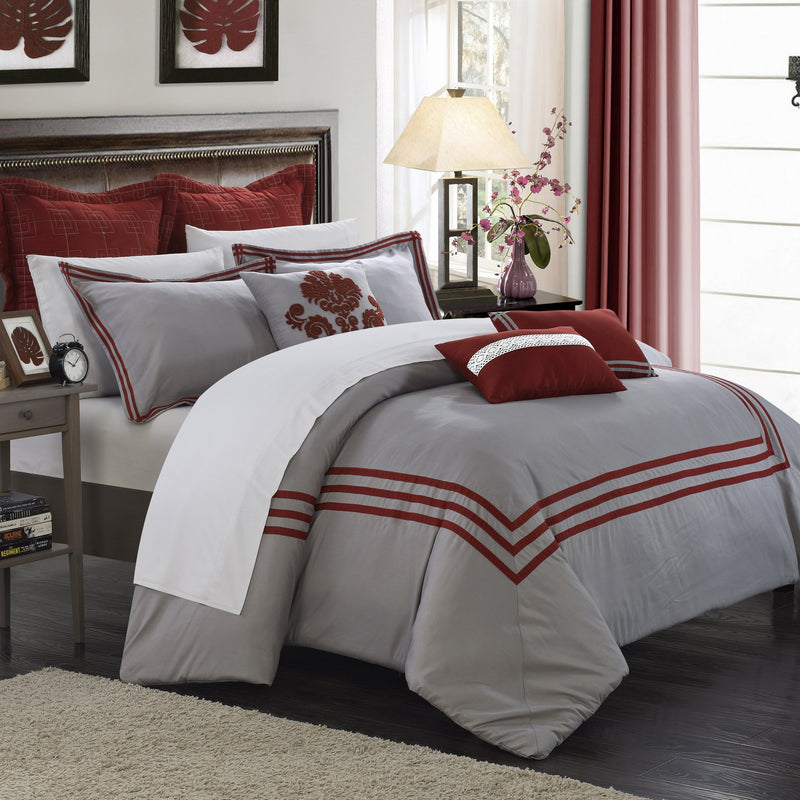 Chic Home Cosmo 8 Piece Comforter Set Contemporary Hotel Collection Bedding-