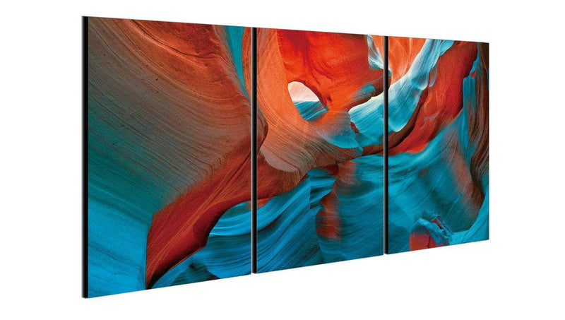 Chic Home Decor Enigma 3 Piece Set Wrapped Canvas Wall Art Giclee Print Desert Cave-