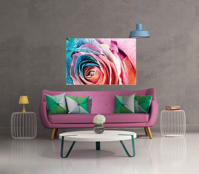 Chic Home Decor Rosalia 1 Piece Wrapped Canvas Wall Art Giclee Print Floral Rose in Bloom-HDP9325-CHB