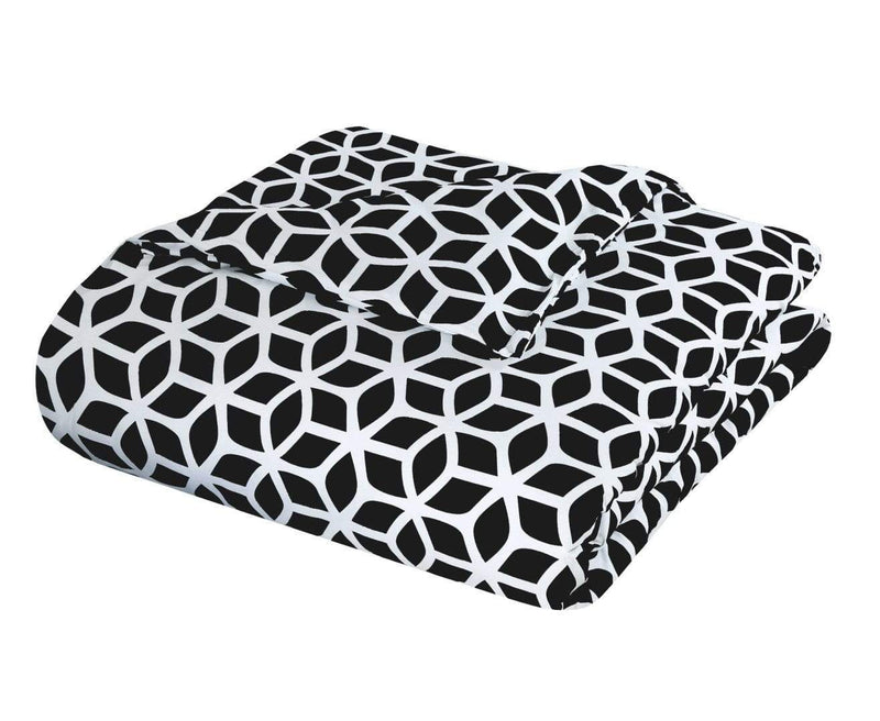Chic Home Elizabeth 9 Piece Duvet Cover Set Reversible Geometric Diamond Pattern Bed in a Bag-