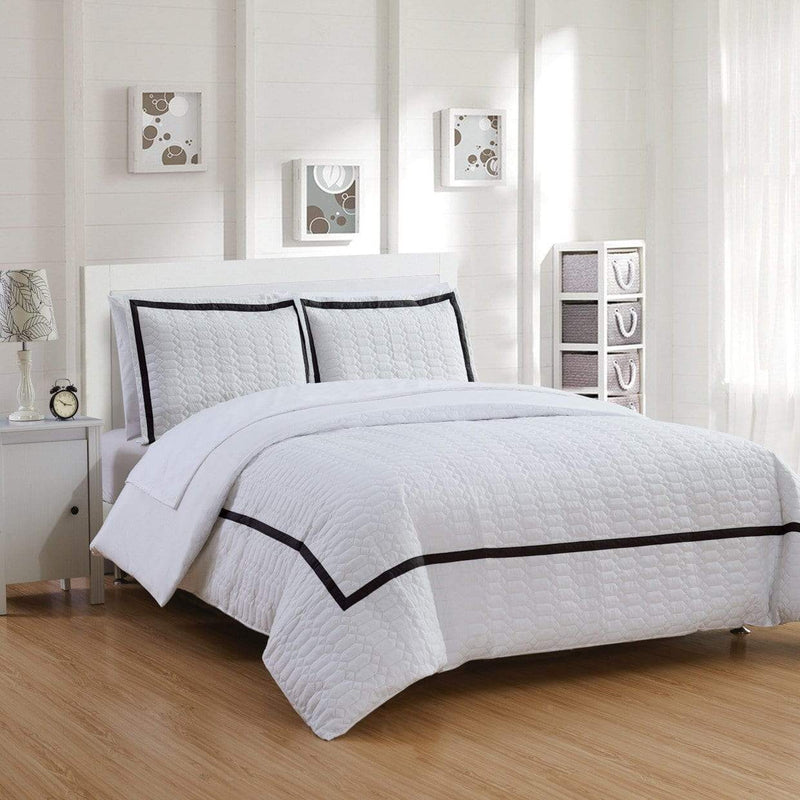 Chic Home Faige 7 Piece Duvet Cover Set Hotel Collection Zipper Closure Bed in a Bag-