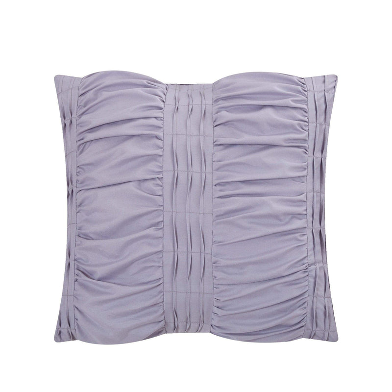 Chic Home Hadassah 10 Piece Ruffled Comforter Set Striped Ruched Bed in a Bag Bedding-