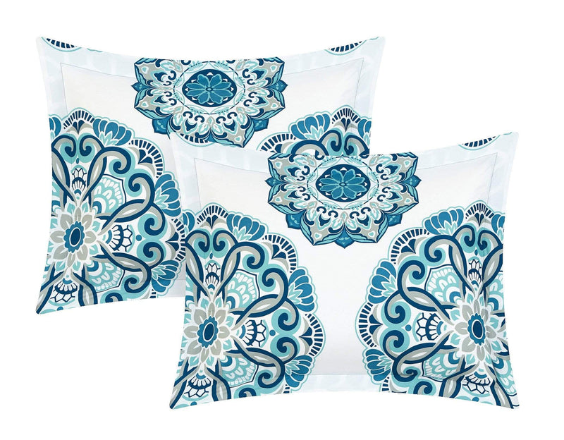 Chic Home Ibiza 3 Piece Duvet Cover Set Reversible Boho Medallion Geometric Design Bedding-