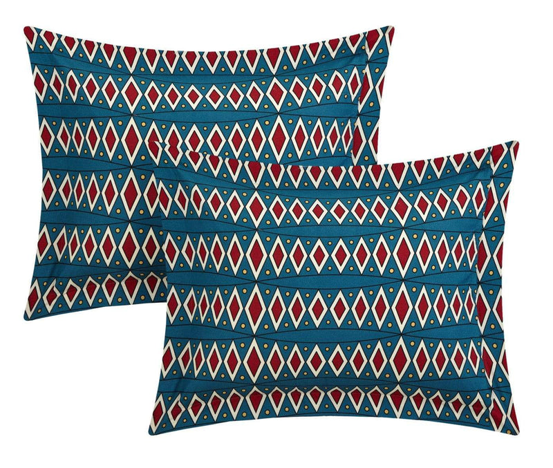 Chic Home Johannesburg 10 Piece Reversible Comforter Set Tribal Inspired Print Bed in a Bag Red