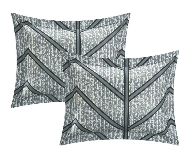 Chic Home Laredo 10 Piece Reversible Comforter Set Geometric Chevron Print Bed in a Bag-