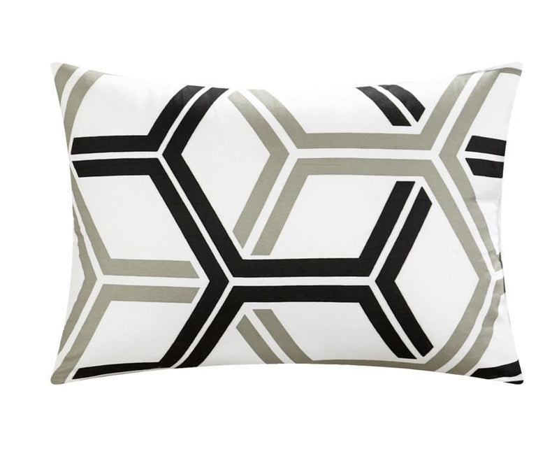 Chic Home Marcia 4 Piece Reversible Comforter Set Pinch Pleat Geometric Pattern Bedding-
