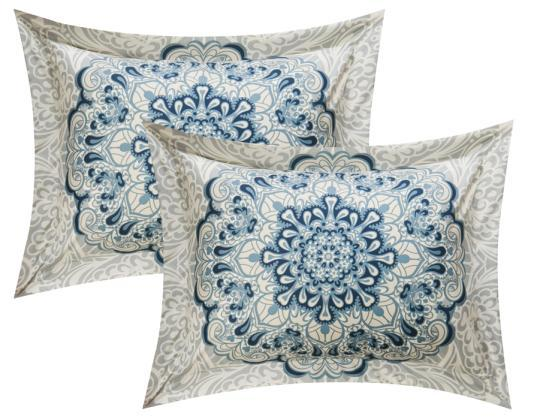Chic Home Mindy 4 Piece Reversible Duvet Cover Set Boho Inspired Medallion Print Bedding-