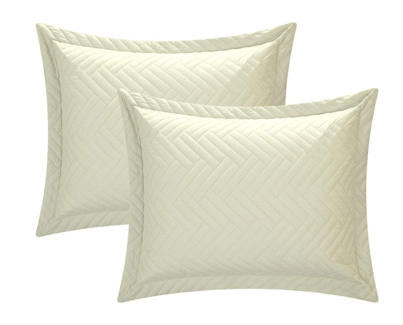Chic Home Palermo 3 Piece Quilt Cover Set Reversible Two Color Chevron Pattern Bedding-