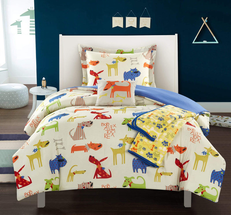 Chic Home Pet Land 5 Piece Youth Comforter Set Mans Best Friend Puppy Dog Theme Bedding