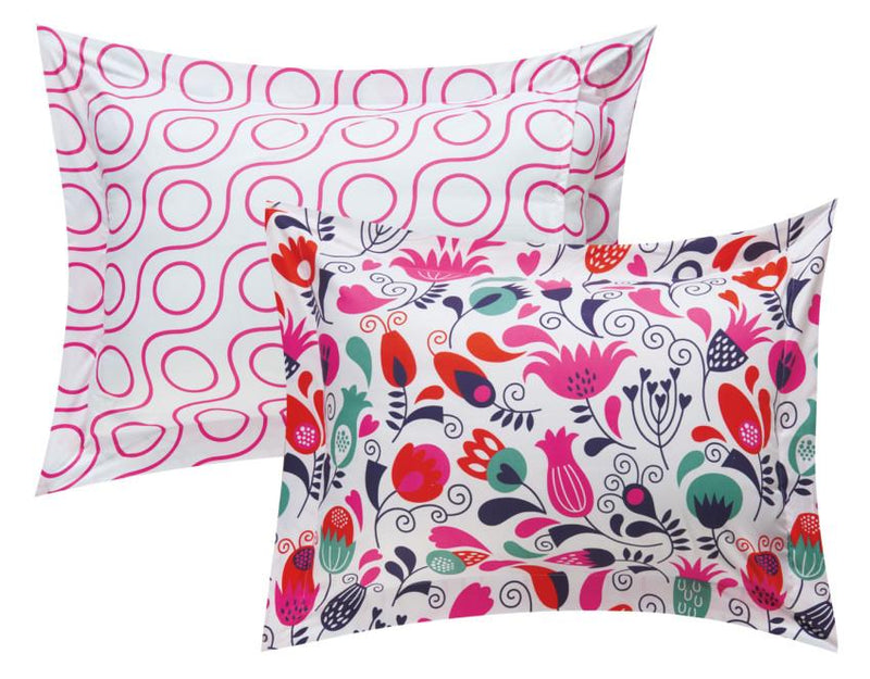 Chic Home Tulip Garden 9 Piece Reversible Comforter Set Colorful Floral Print Bed in a Bag Pink