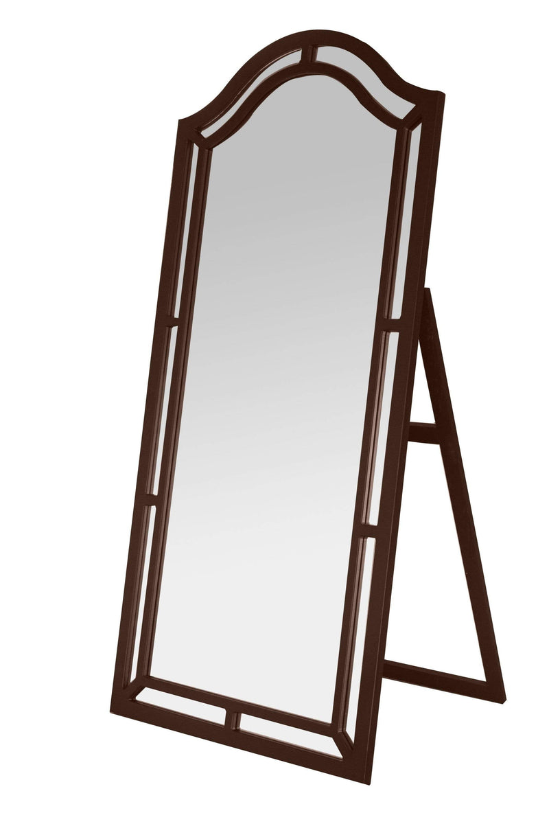 Iconic Home Berlin Floor Mirror Free Standing Satin Finish Traditional-Espresso-FCM2624-CHB