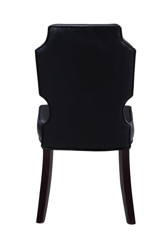 Iconic Home Lennon Dining Chair Button Tufted PU Leather Espresso Wood Frame (Set of 2) - Chic Home Design