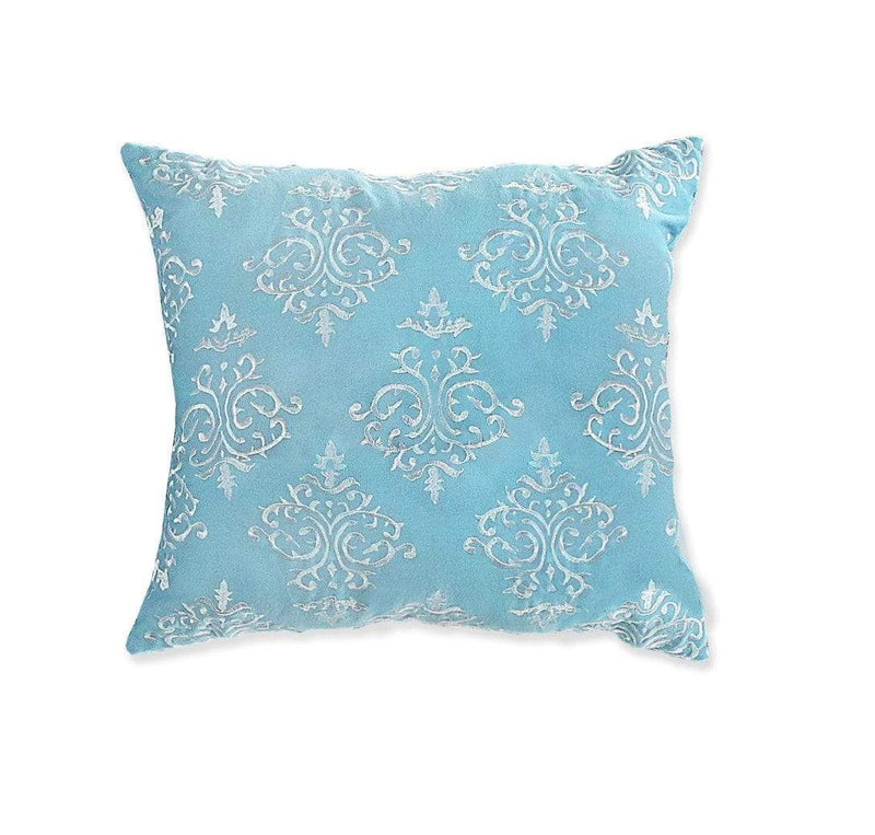 Lux Bed Magical Medallion 1 Piece 100% Cotton Decorative Pillow Shibori Medallion Print Blue-LBDP0657-CHB