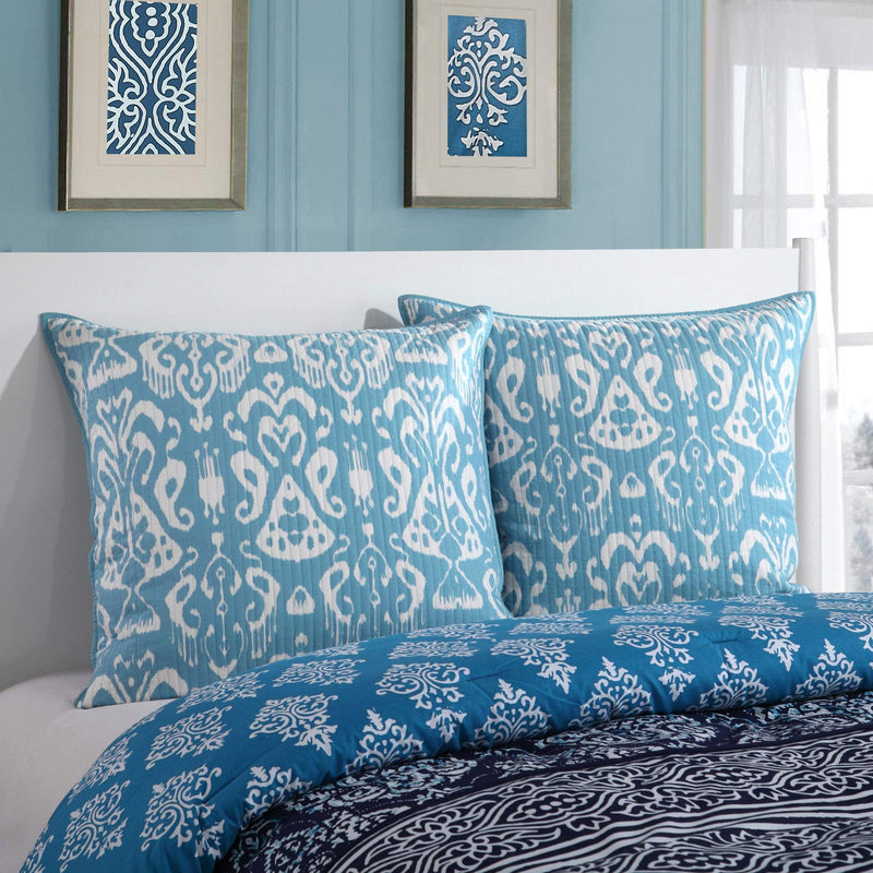 Lux Bed Magical Medallion 1 Piece 100% Cotton Euro Sham Tribal Inspired Navy-LBES0656-CHB