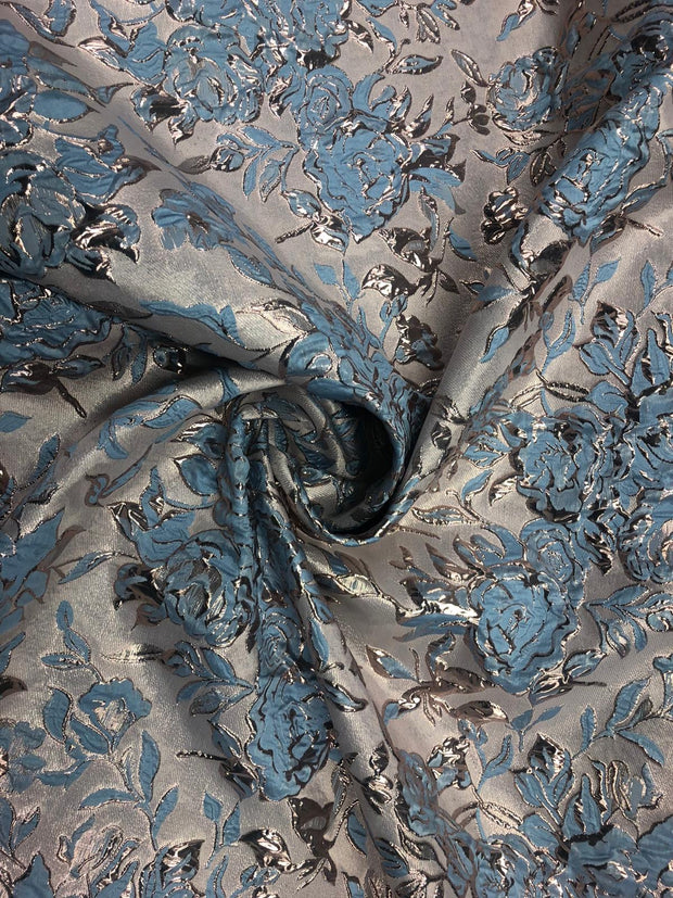 glazed flower metallic brocade