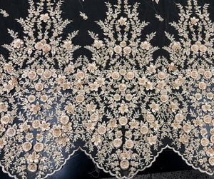 Catelyn Hand Beaded Lace