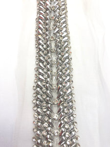 Tear drop rhinestone trim