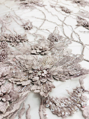 Bloom Hand beaded lace