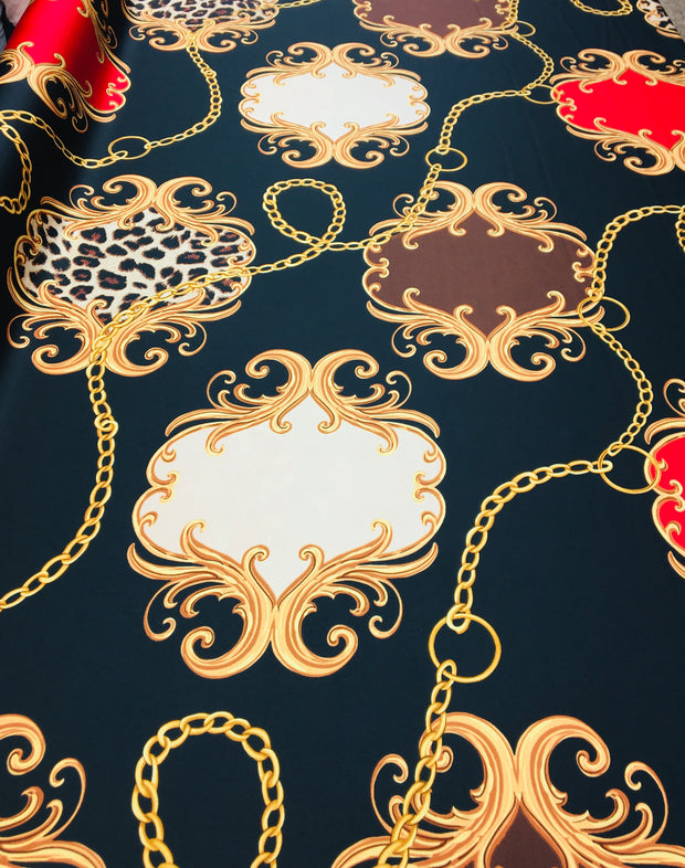 Leopard baroque silky print