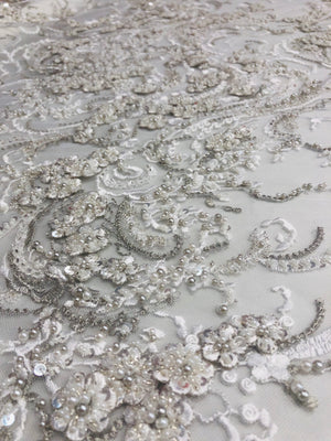Selina Hand Beaded lace