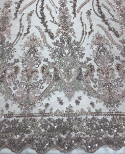 Hand Beaded French Lace