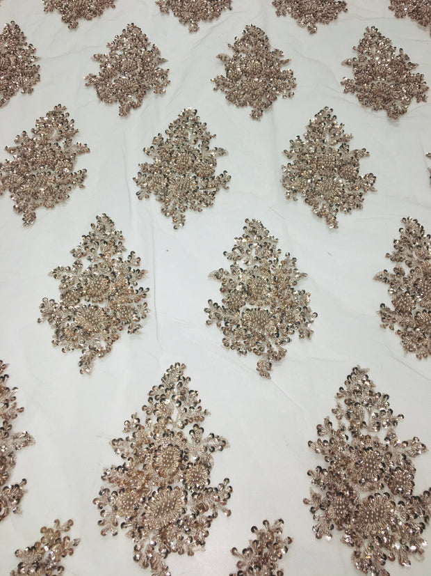 Arya Hand Beaded French Lace