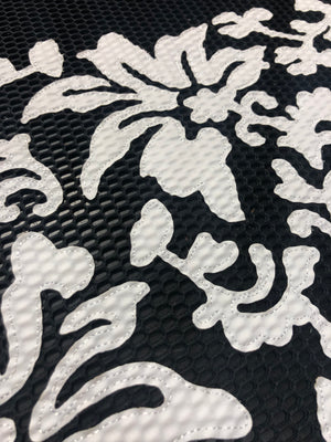 Scuba laser cut leather