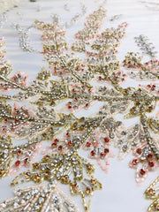Blossom hand beaded lace