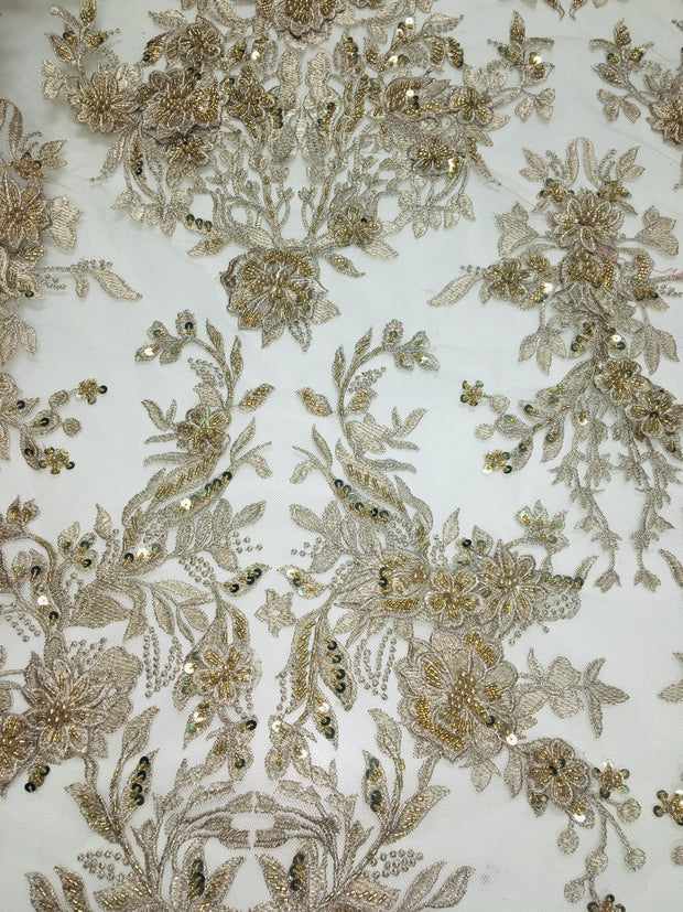 3D Embroidered Bridal Lace
