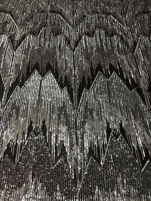 Everest feather sequin net