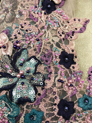 Zalie Hand beaded lace