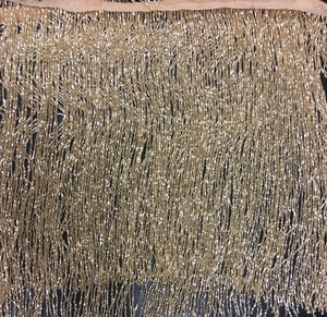 Hand beaded trim fringe