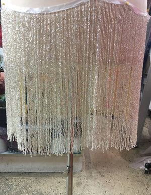 12'' hand beaded trim fringe