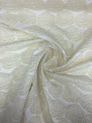 Rose flower metallic brocade