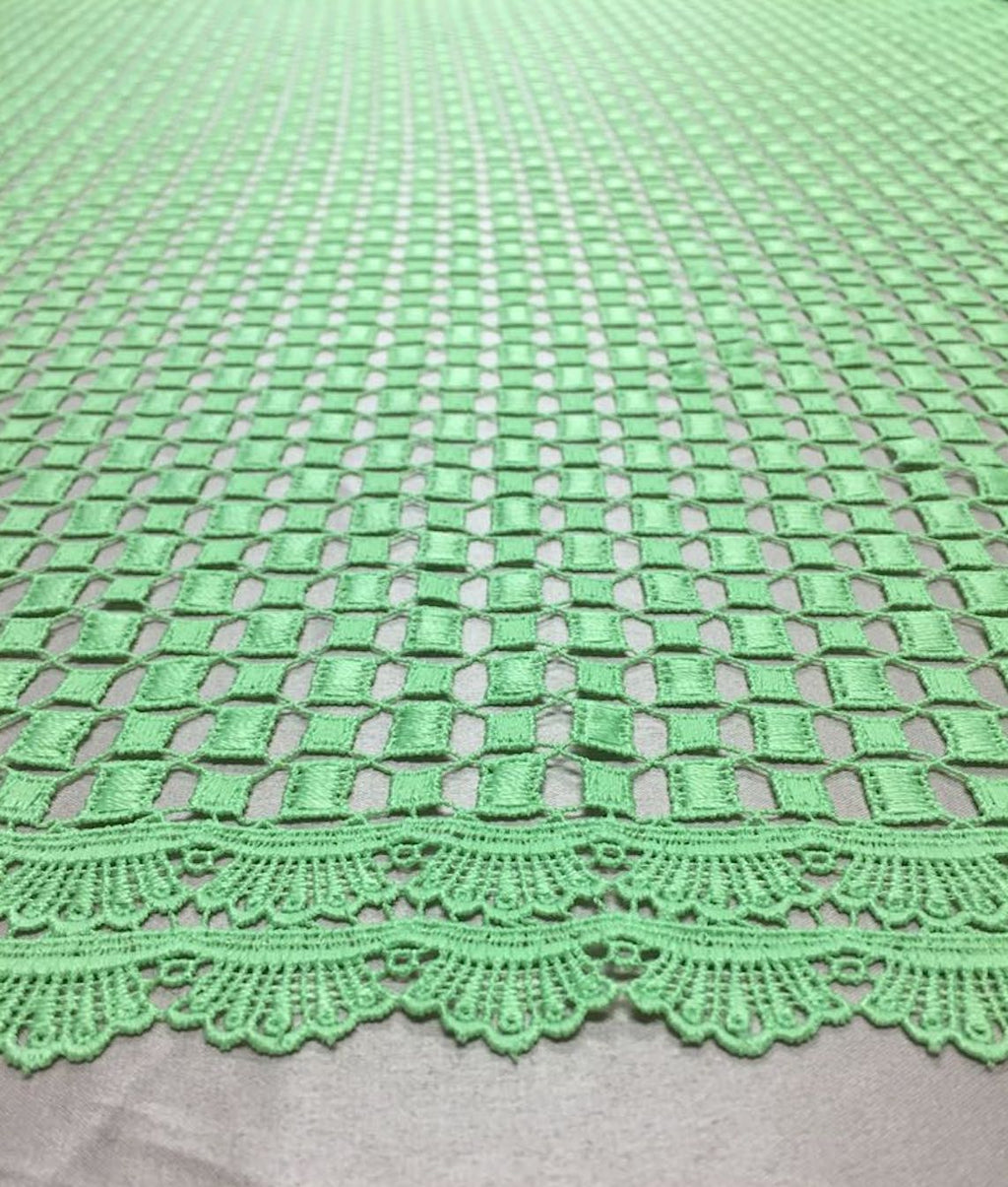 Mint Green Guipiure Lace