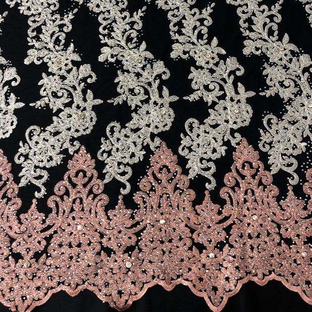 3 Tone Lace Beaded