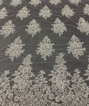 Hand Beaded Appliques French Lace