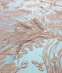 Blush Feather 3d lace