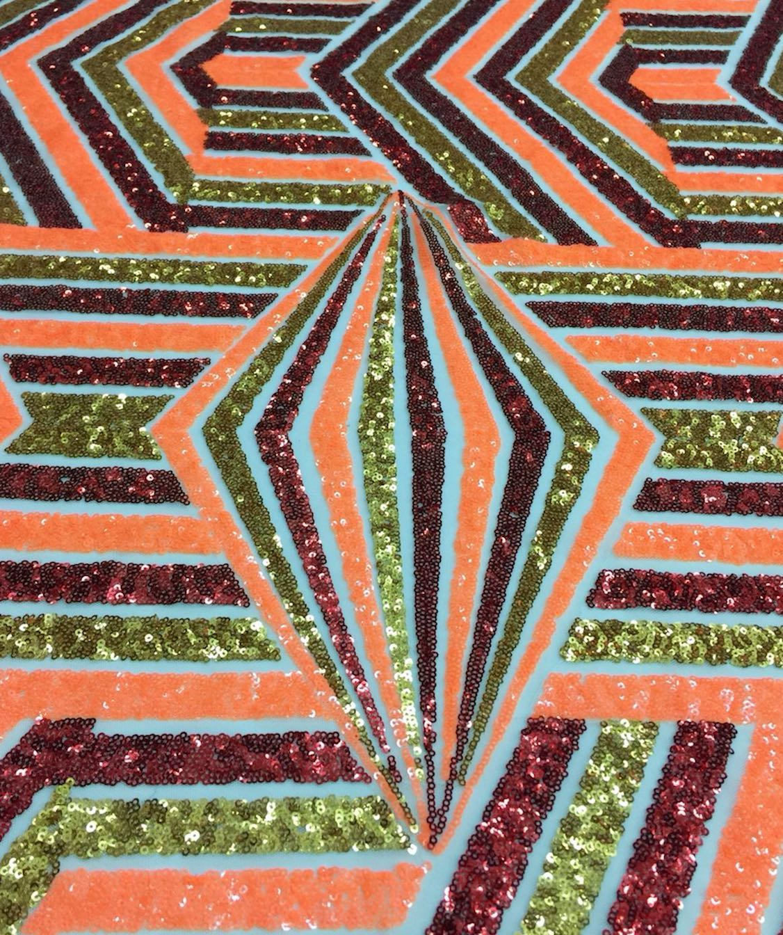 Geometric Multicolored Sequin
