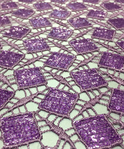 Purple Sequin Lace