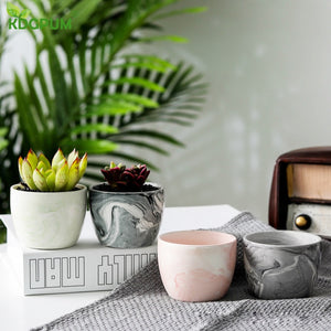 Ceramic Flower Marble Pot