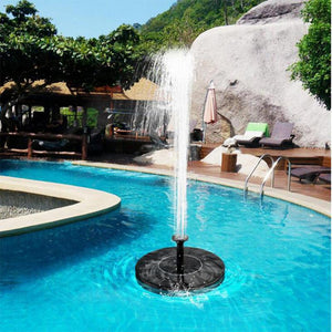 Solar Fountain for pools, bird baths, and gardens - Pump included!