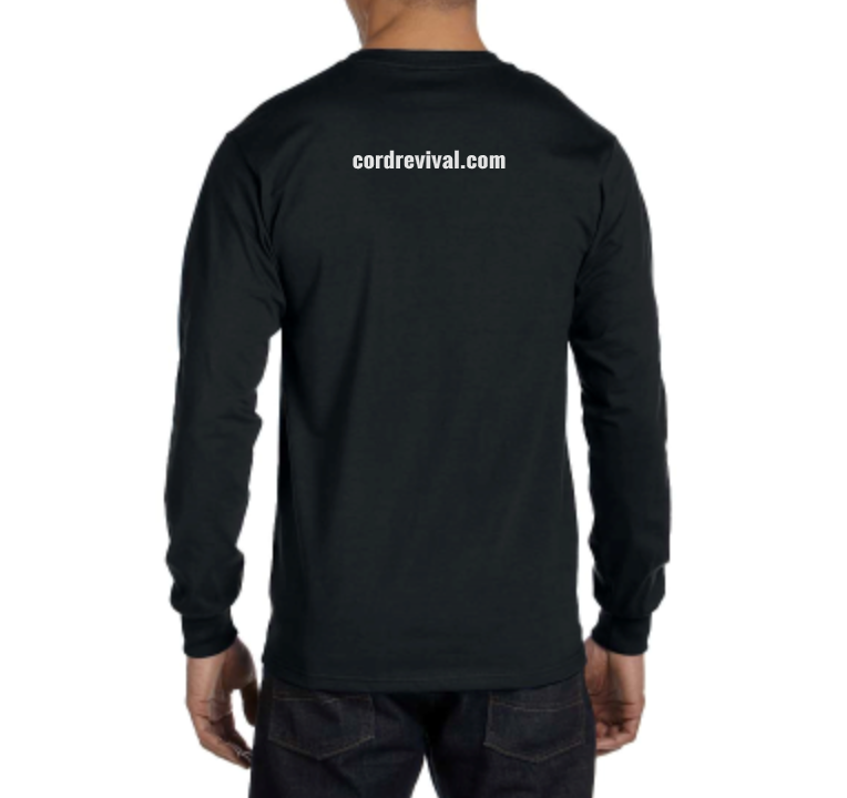 Unisex Long Sleeve Black Crew T-shirt