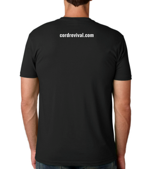 Men's Classic Blend Black Crew with Metallic Print T-Shirt